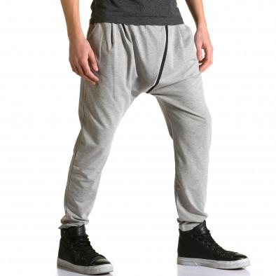 Ανδρικό γκρι παντελόνι jogger The Power ca110215-8 4