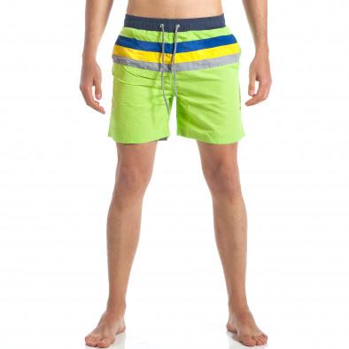 Ανδρικό πράσινο μαγιό Austar Jeans it190417-105 2