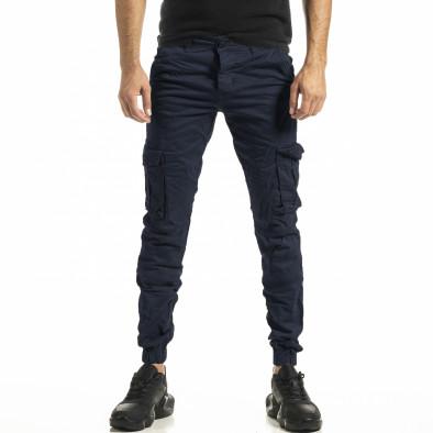 Ανδρικό γαλάζιο παντελόνι Cargo Jogger tr161220-21 2