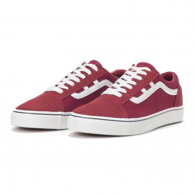 Ανδρικά κόκκινα υφασμάτινα sneakers Old Skool it160318-28 3