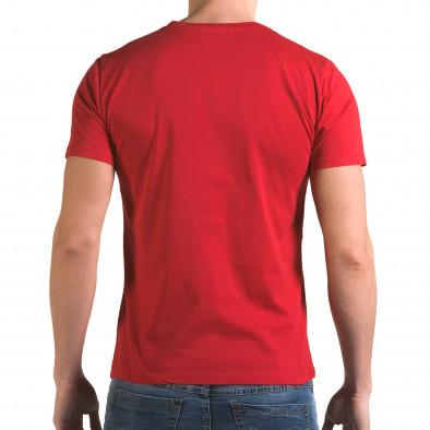 Ανδρική κόκκινη κοντομάνικη μπλούζα Man it090216-68 3