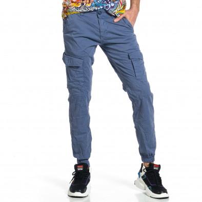 Ανδρικό γαλάζιο παντελόνι cargo jogger tr270421-3 4