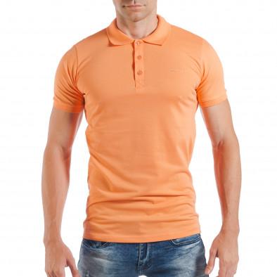 Ανδρική κοντομάνικη πόλο σε πορτοκαλί χρώμα tsf250518-38 2