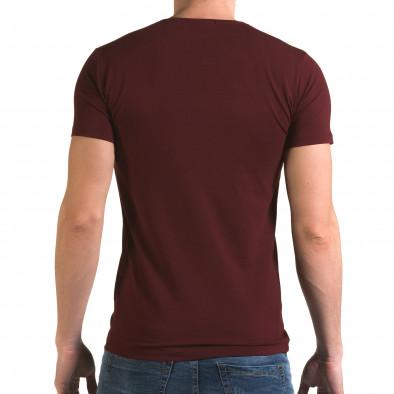 Ανδρική κόκκινη κοντομάνικη μπλούζα Lagos il120216-14 3