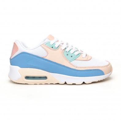 Γυναικεία αθλητικά παπούτσια με αερόσολα σε απαλά χρώματα it051219-12 2