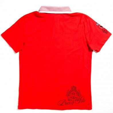 Ανδρική κόκκινη πολο X-Name 140313-28 2