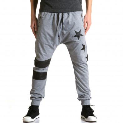 Ανδρικό γκρι παντελόνι jogger Jack Davis ca190116-20 2