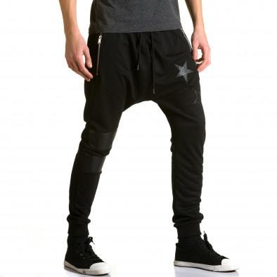 Ανδρικό μαύρο παντελόνι jogger Jack Davis ca190116-21 4
