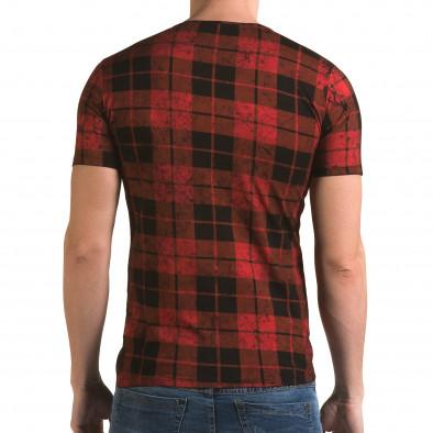 Ανδρική κόκκινη κοντομάνικη μπλούζα Lagos il120216-49 3