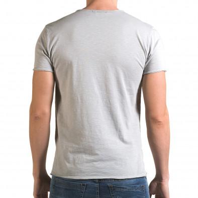 Ανδρική γκρι κοντομάνικη μπλούζα FM it090216-77 3