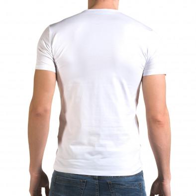 Ανδρική λευκή κοντομάνικη μπλούζα Lagos il120216-19 3