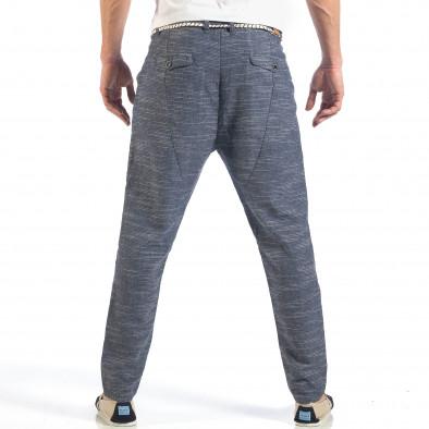 Ανδρικό γαλάζιο παντελόνι με κορδόνι it260318-108 4