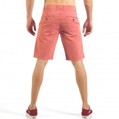 Ανδρική ροζ βερμούδα με ιταλικές τσέπες it260318-137 3