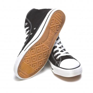 Ανδρικά μαύρα sneakers Dilen it170315-8 4