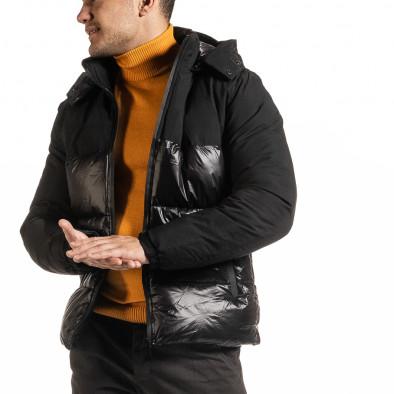 Ανδρικό μαύρο χειμωνιάτικο μπουφάν Duca Homme it301020-8 3