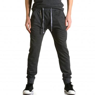Ανδρικό μαύρο παντελόνι jogger Furia Rossa ca190116-16 2