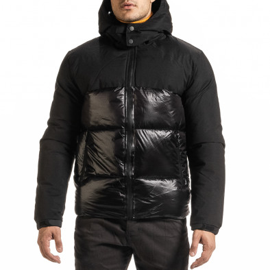 Ανδρικό μαύρο χειμωνιάτικο μπουφάν Duca Homme it301020-8 2