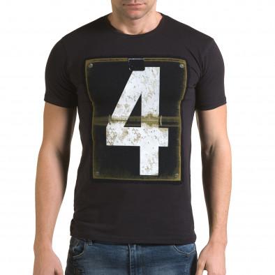 Ανδρική γαλάζια κοντομάνικη μπλούζα Lagos il120216-44 2