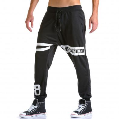 Ανδρικό μαύρο παντελόνι jogger Eadae Wear ca260815-30 4