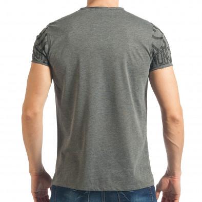 Ανδρική γκρι κοντομάνικη μπλούζα Lagos tsf020218-65 3