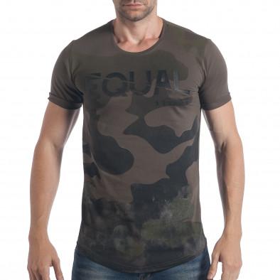 Ανδρική καμουφλαζ κοντομάνικη μπλούζα Breezy tsf090617-25 2