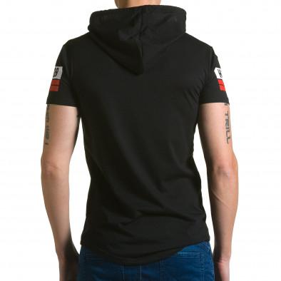 Ανδρική μαύρη κοντομάνικη μπλούζα Belman ca190116-41 3