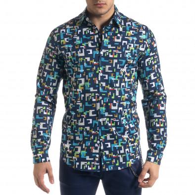 Ανδρικό πολύχρωμο πουκάμισο Open tr110320-97 3