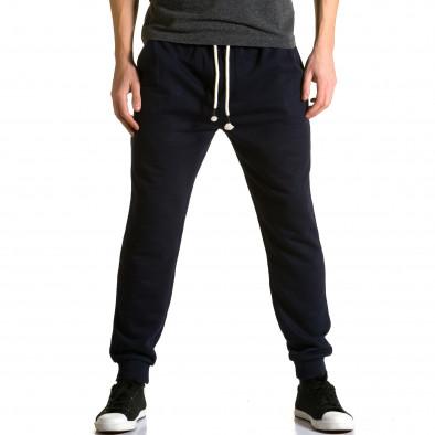 Ανδρικό γαλάζιο παντελόνι jogger Enos ca190116-32 2