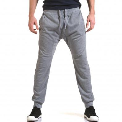 Ανδρικό γκρι παντελόνι jogger Dress&GO it090216-38 2