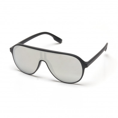 74ceb292dc Ανδρικά μαύρα γυαλιά ηλίου τύπου μάσκα με φακούς καθρέφτη it250418-1 ...