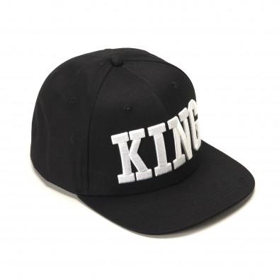 Ανδρικό μαύρο καπέλα FM it090217-4 2