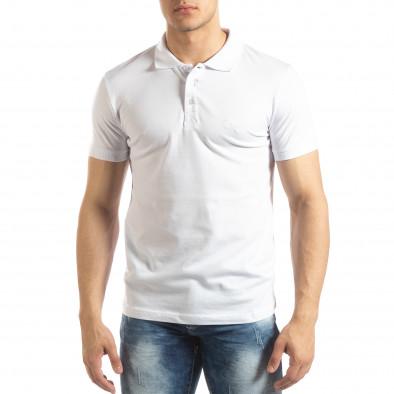 Ανδρική λευκή Polo Shirt it150419-97 2