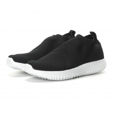 Ανδρικά χαμηλά μαύρα αθλητικά παπούτσια κάλτσα it190219-12 4