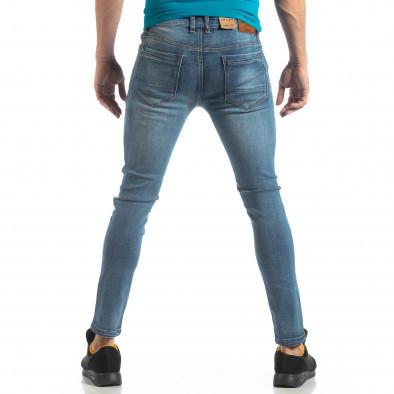 Ανδρικό μπλε ελαστικό τζιν Slim fit it210319-4 4