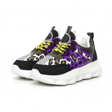 Γυναικεία μαύρα αθλητικά παπούτσια με λεπτομέρειες Mix it130819-66 3