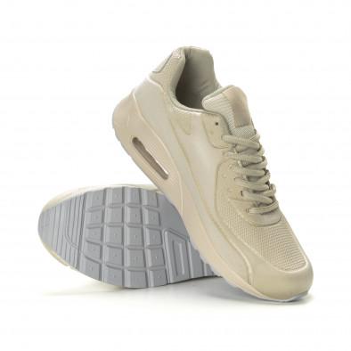 Ανδρικά μπεζ αθλητικά παπούτσια Air it190219-9 4