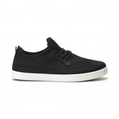 Ανδρικά μαύρα sneakers ελαφρύ μοντέλο it250119-14 2