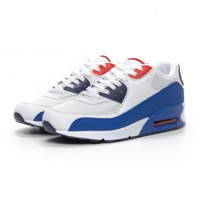Ανδρικά λευκά αθλητικά παπούτσια με αερόσολα it240419-19 3