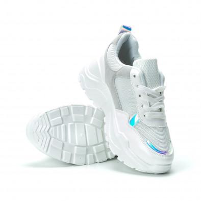 Γυναικεία λευκά sneakers με πλατφόρμα it250119-37 4
