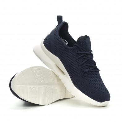 Ανδρικά μπλε αθλητικά παπούτσια ελαφρύ μοντέλο Hole design it150319-10 4