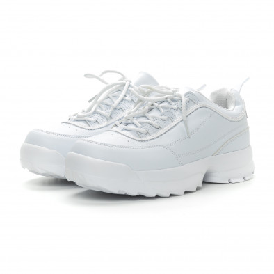 Ανδρικά λευκά αθλητικά παπούτσια Ckunky it150319-7 3
