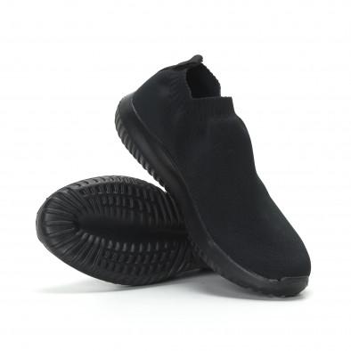 Ανδρικά χαμηλά μαύρα αθλητικά παπούτσια κάλτσα All black it190219-11 4