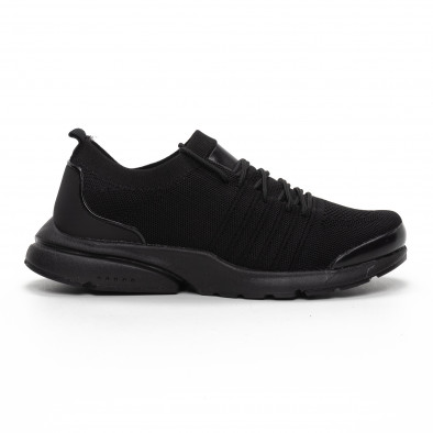 Ανδρικά μαύρα αθλητικά παπούτσια καλτσάκι ελαφρύ μοντέλο it240419-23 2