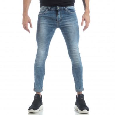 Ανδρικό γαλάζιο τζιν Skinny Washed Jeans it040219-7 3