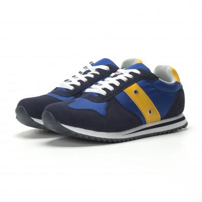 Ανδρικά μπλε αθλητικά παπούτσια κλασικό μοντέλο it250119-4 4