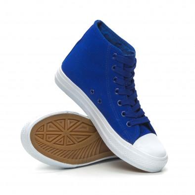 Γυναικεία Basic μπλε ψηλά sneakers  it150319-34 4
