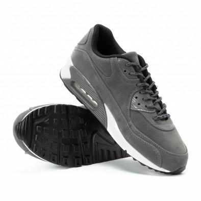 Ανδρικά γκρι σουέτ αθλητικά παπούτσια Air it140918-28 4
