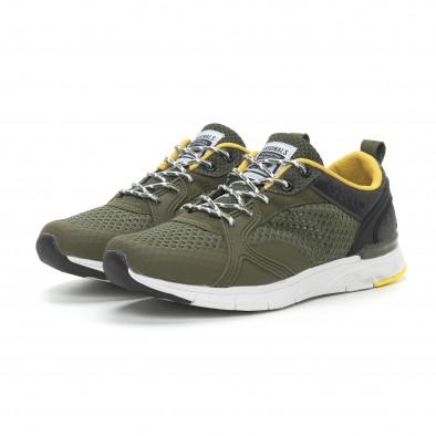 Ανδρικά πράσινα αθλητικά παπούτσια με κορδόνια it150319-31 4