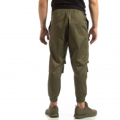 Cropped ανδρικό πράσινο παντελόνι με τσέπες it090519-19 4