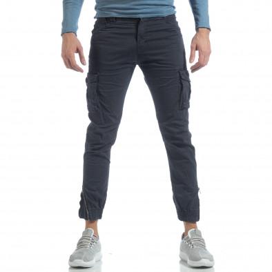 Ανδρικό μπλε cargo Jogger παντελόνι  it040219-32 3